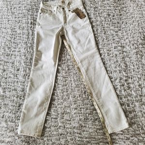 Madewell jeans white high rise skinny size…